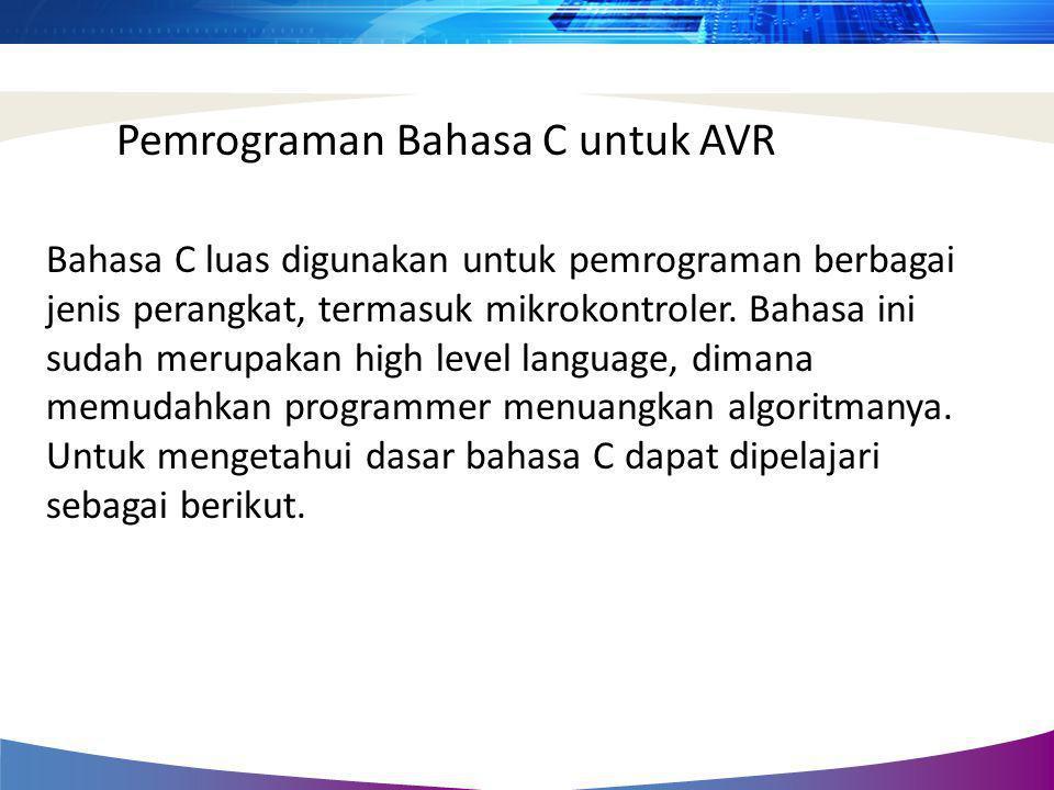 Pemrograman Bahasa C untuk AVR