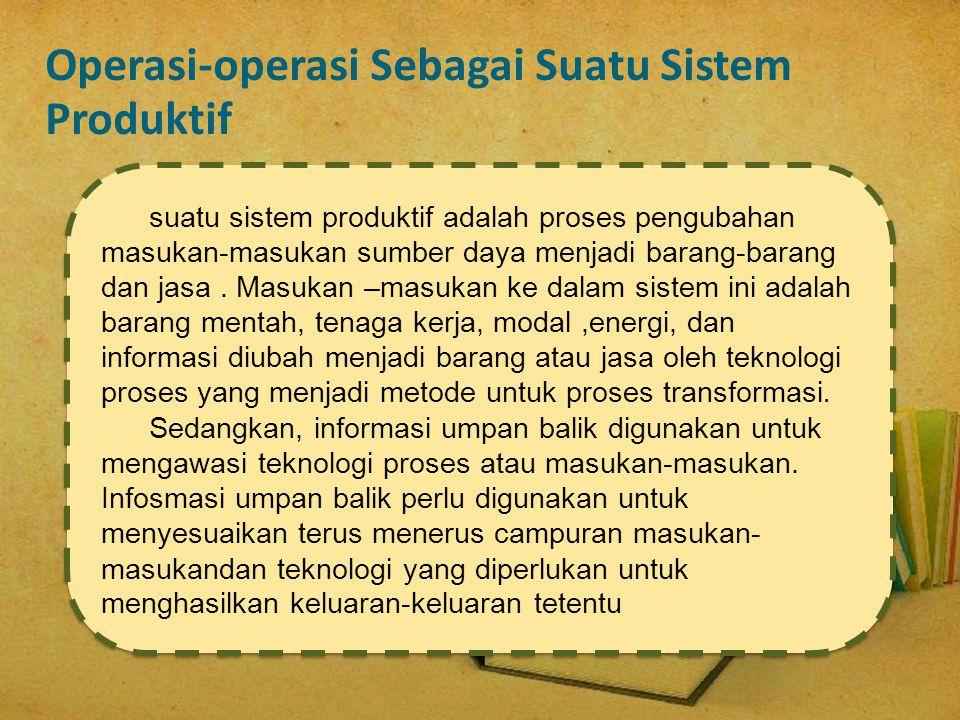 Operasi-operasi Sebagai Suatu Sistem Produktif