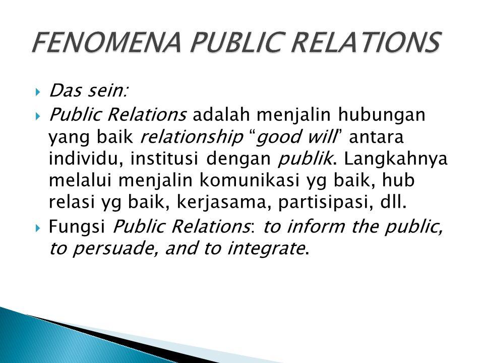 FENOMENA PUBLIC RELATIONS