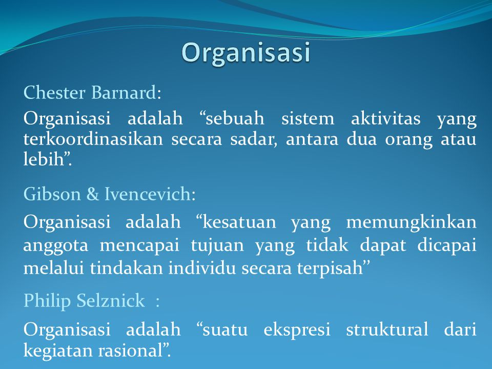 Organisasi Chester Barnard: