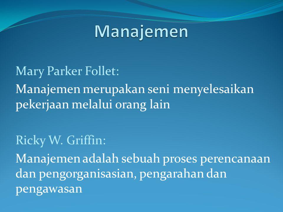 Manajemen Mary Parker Follet: