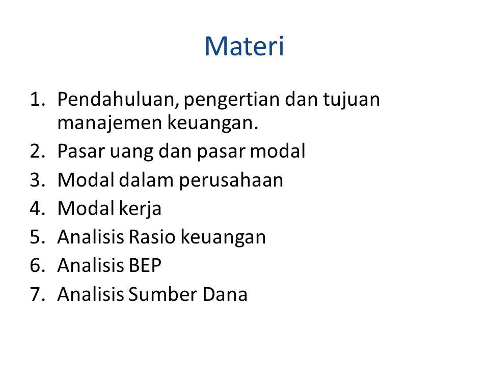 Materi Pendahuluan, pengertian dan tujuan manajemen keuangan.