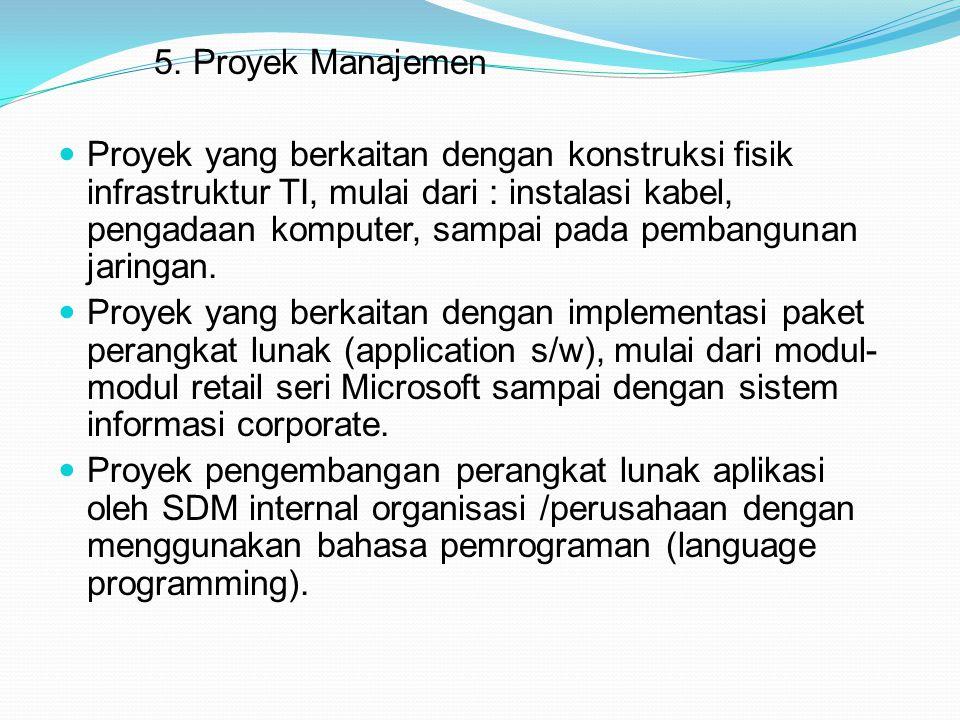 5. Proyek Manajemen