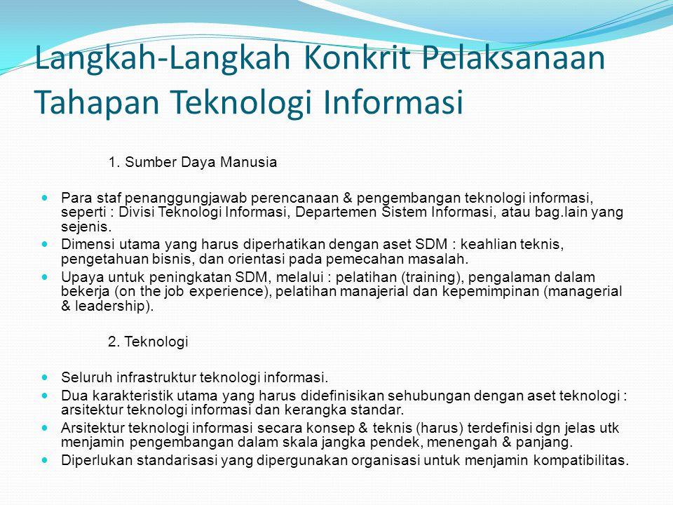 Langkah-Langkah Konkrit Pelaksanaan Tahapan Teknologi Informasi
