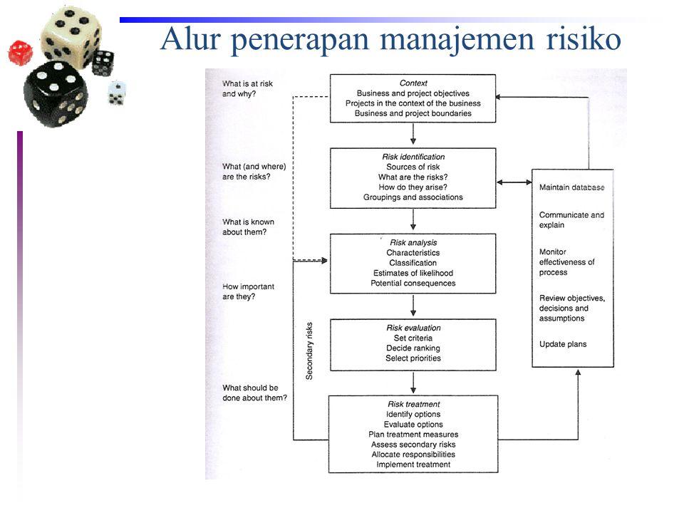 Alur penerapan manajemen risiko