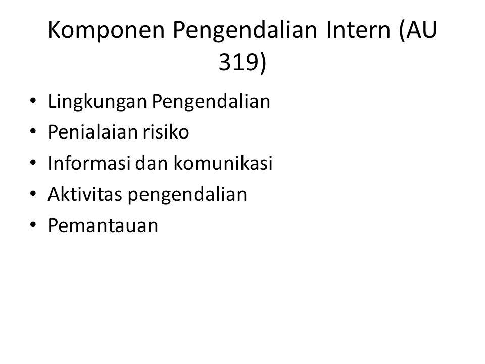 Komponen Pengendalian Intern (AU 319)