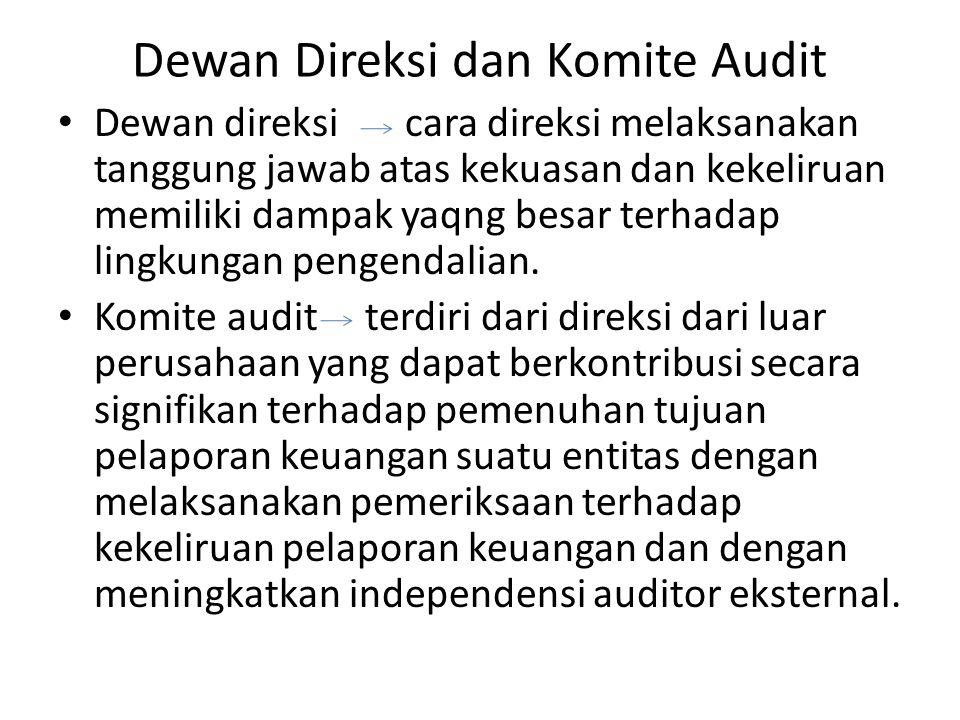 Dewan Direksi dan Komite Audit