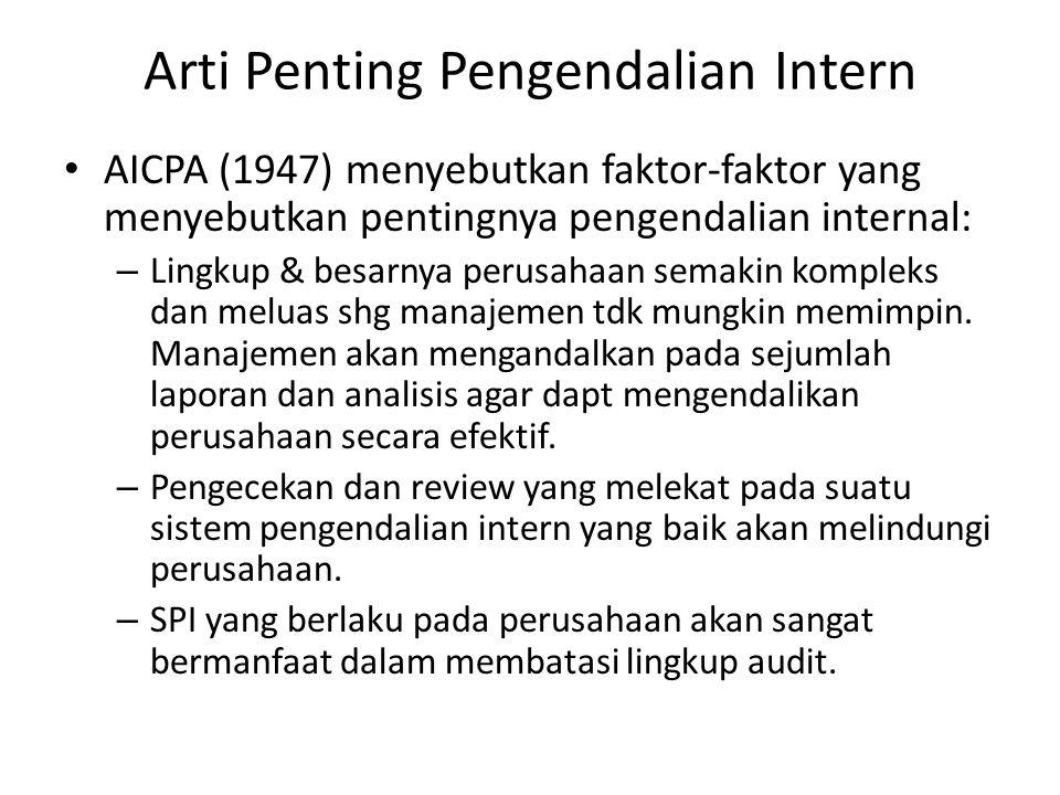 Arti Penting Pengendalian Intern