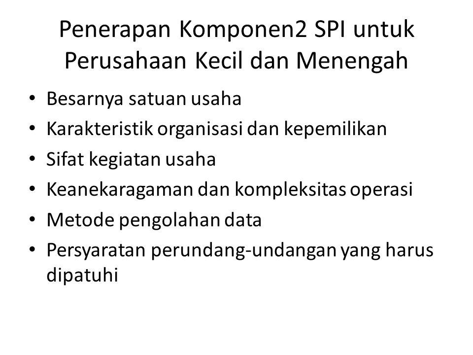 Penerapan Komponen2 SPI untuk Perusahaan Kecil dan Menengah