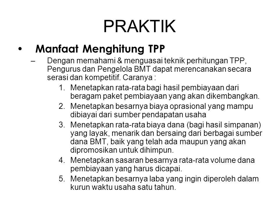PRAKTIK Manfaat Menghitung TPP