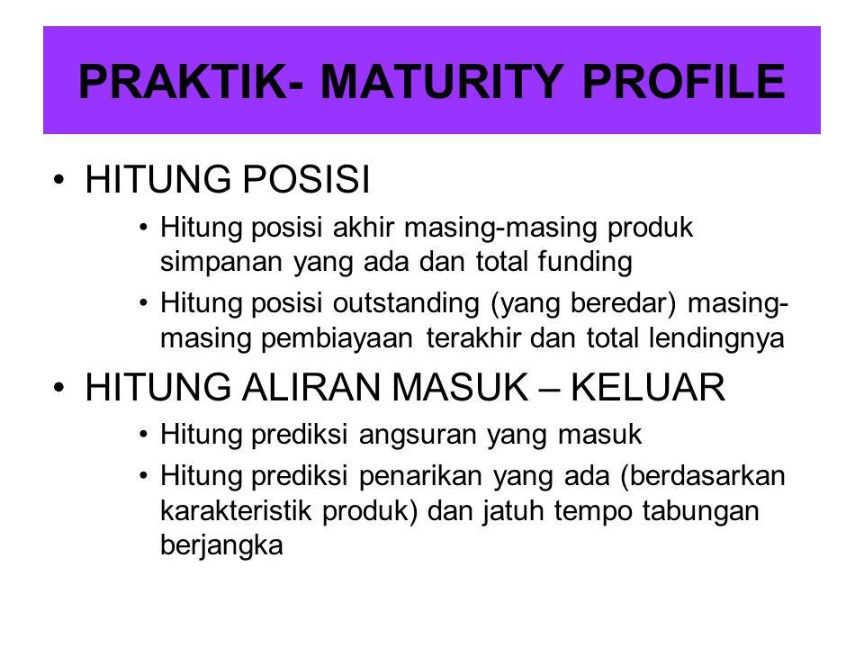 PRAKTIK- MATURITY PROFILE