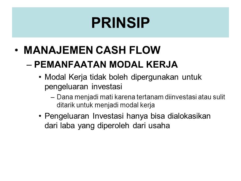 PRINSIP MANAJEMEN CASH FLOW PEMANFAATAN MODAL KERJA
