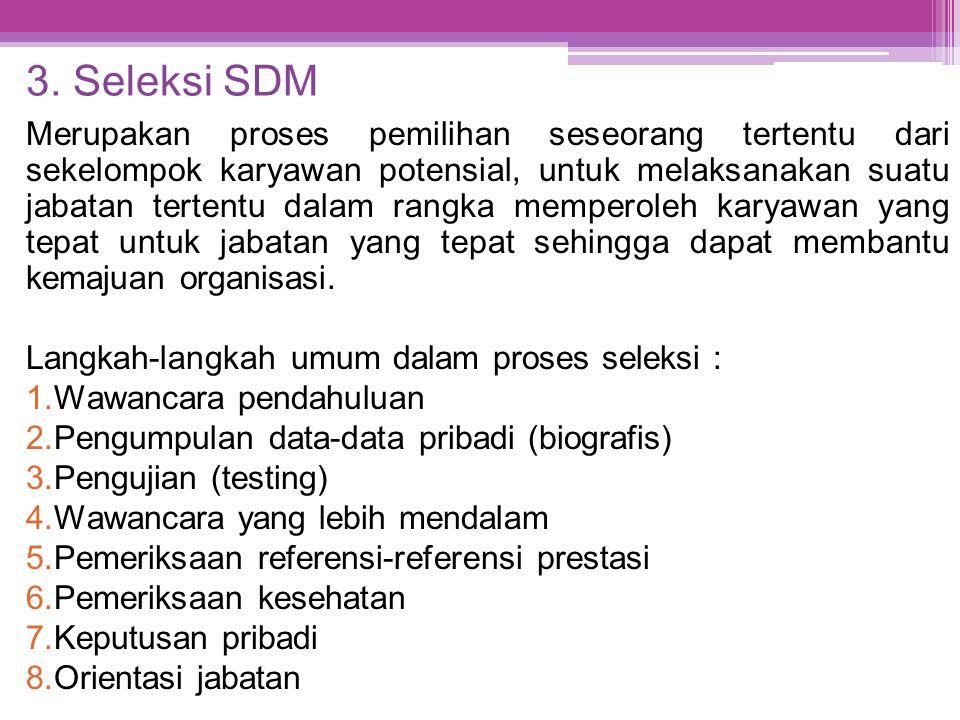 3. Seleksi SDM