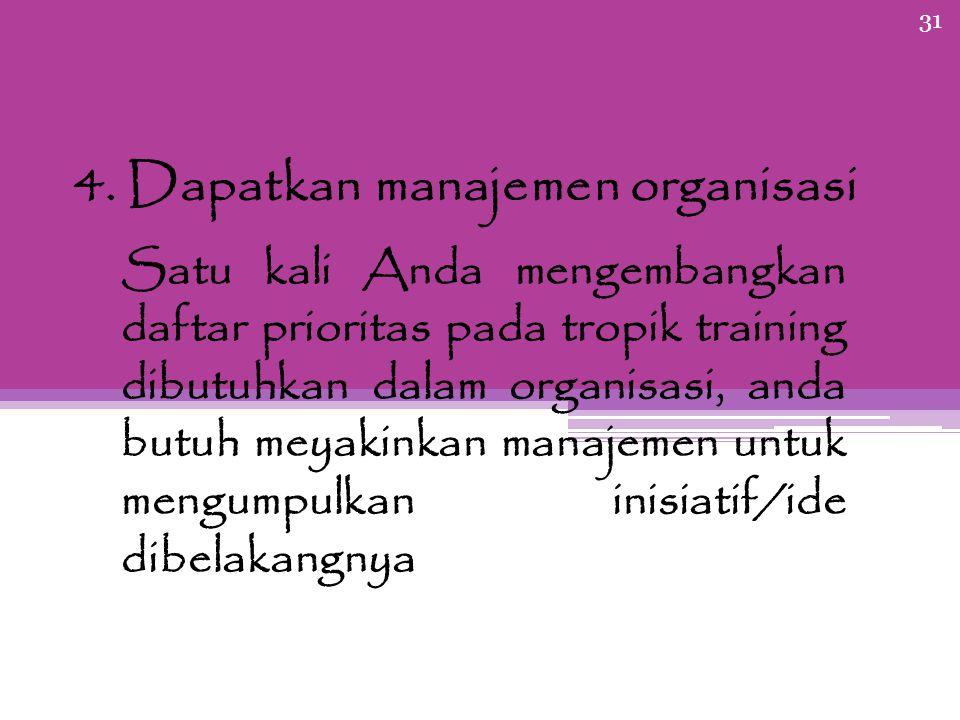 4. Dapatkan manajemen organisasi