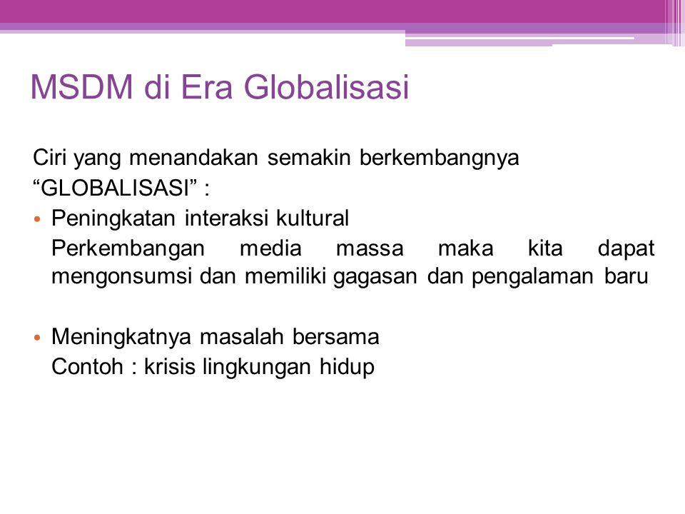 MSDM di Era Globalisasi