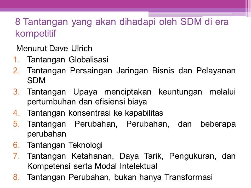 8 Tantangan yang akan dihadapi oleh SDM di era kompetitif