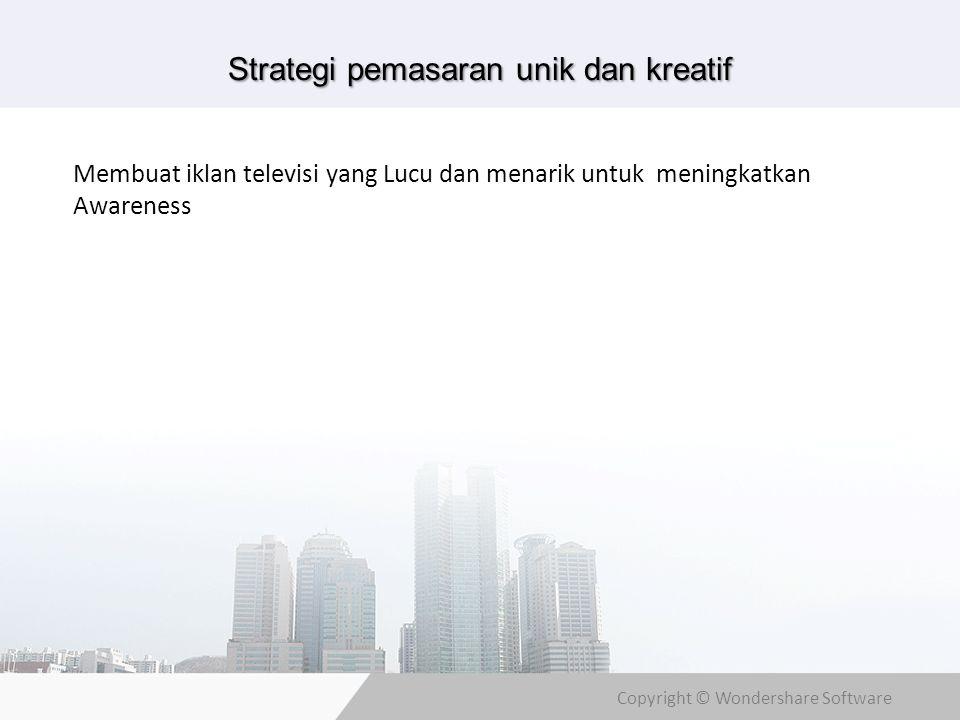 Strategi pemasaran unik dan kreatif