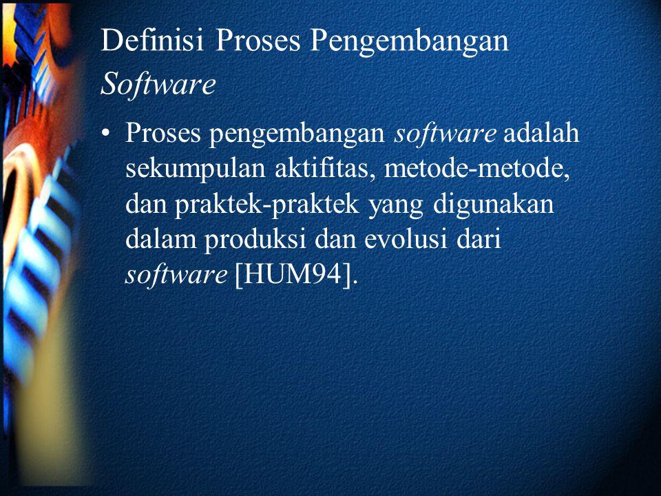 Definisi Proses Pengembangan Software
