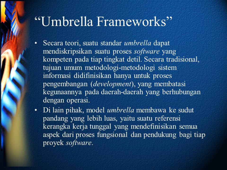 Umbrella Frameworks