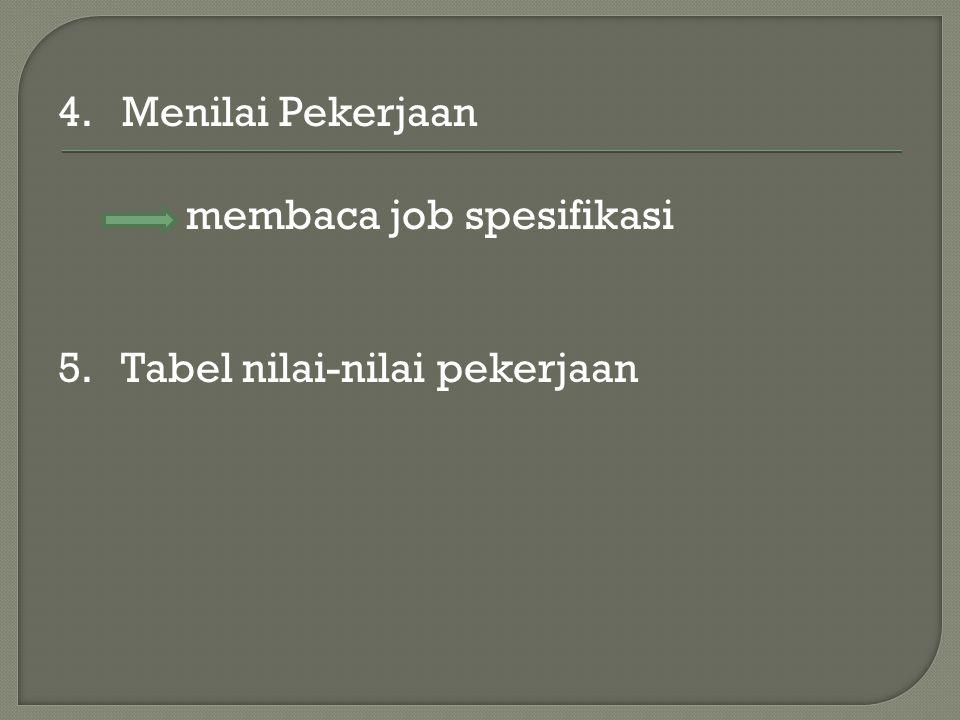 4. Menilai Pekerjaan membaca job spesifikasi 5