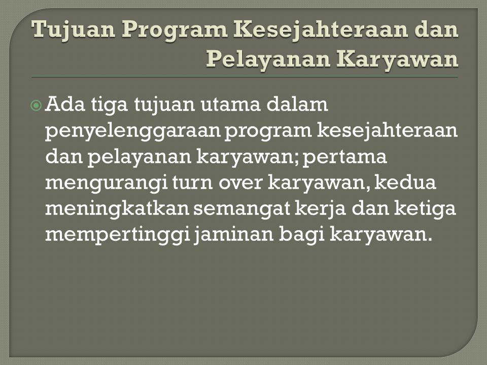 Tujuan Program Kesejahteraan dan Pelayanan Karyawan