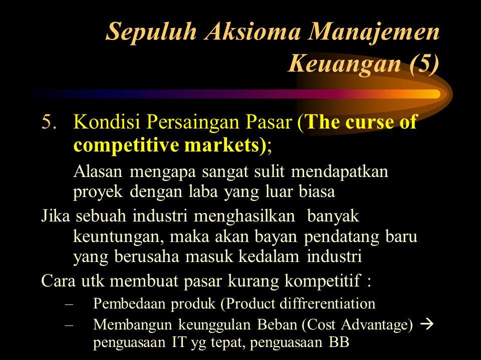 Sepuluh Aksioma Manajemen Keuangan (5)