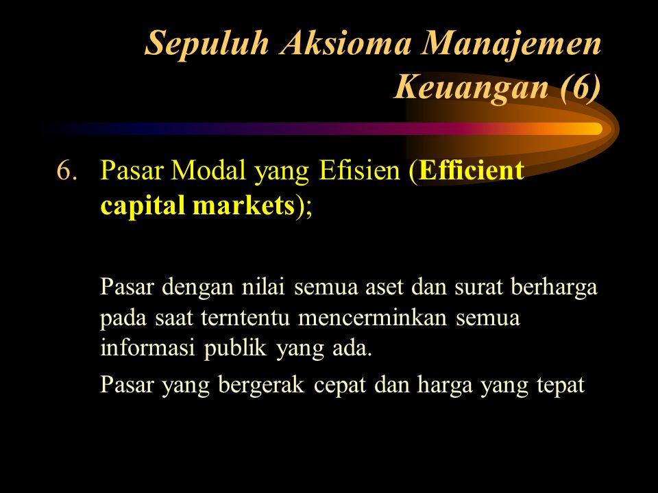 Sepuluh Aksioma Manajemen Keuangan (6)