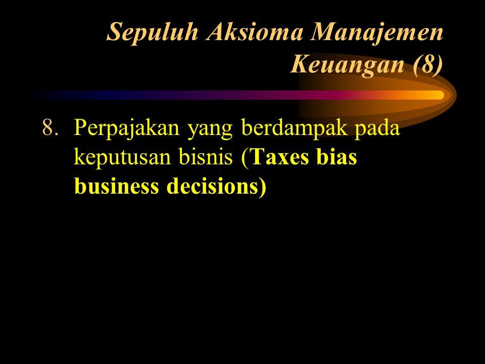 Sepuluh Aksioma Manajemen Keuangan (8)