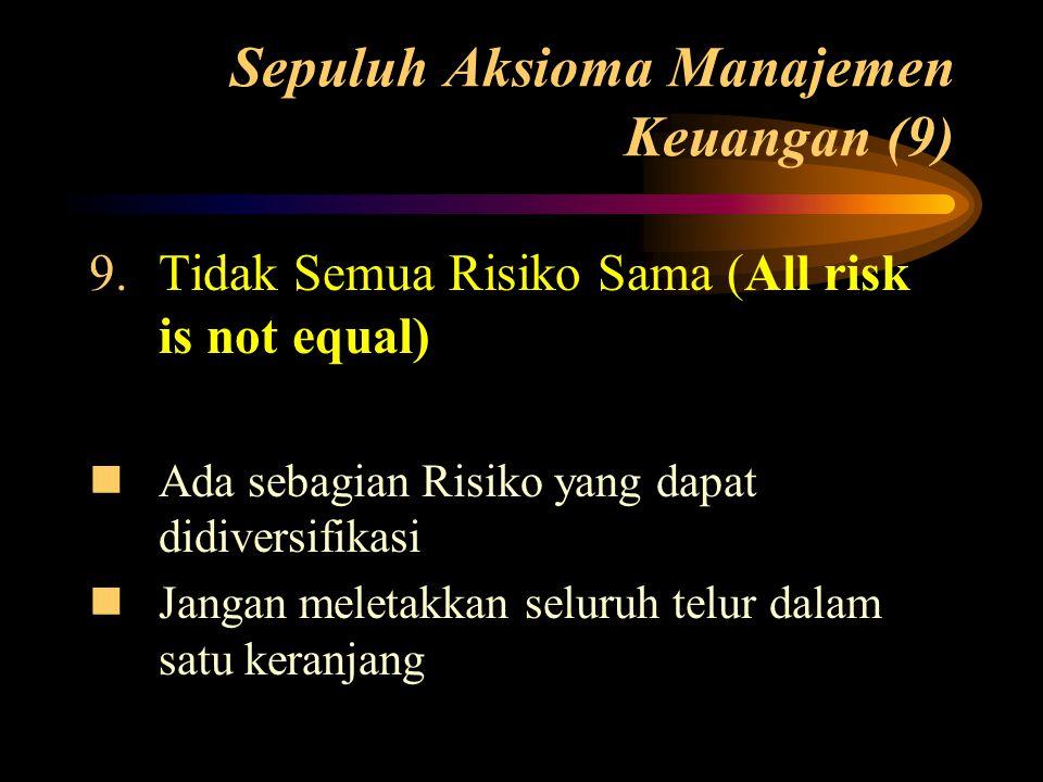 Sepuluh Aksioma Manajemen Keuangan (9)