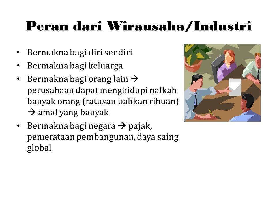 Peran dari Wirausaha/Industri