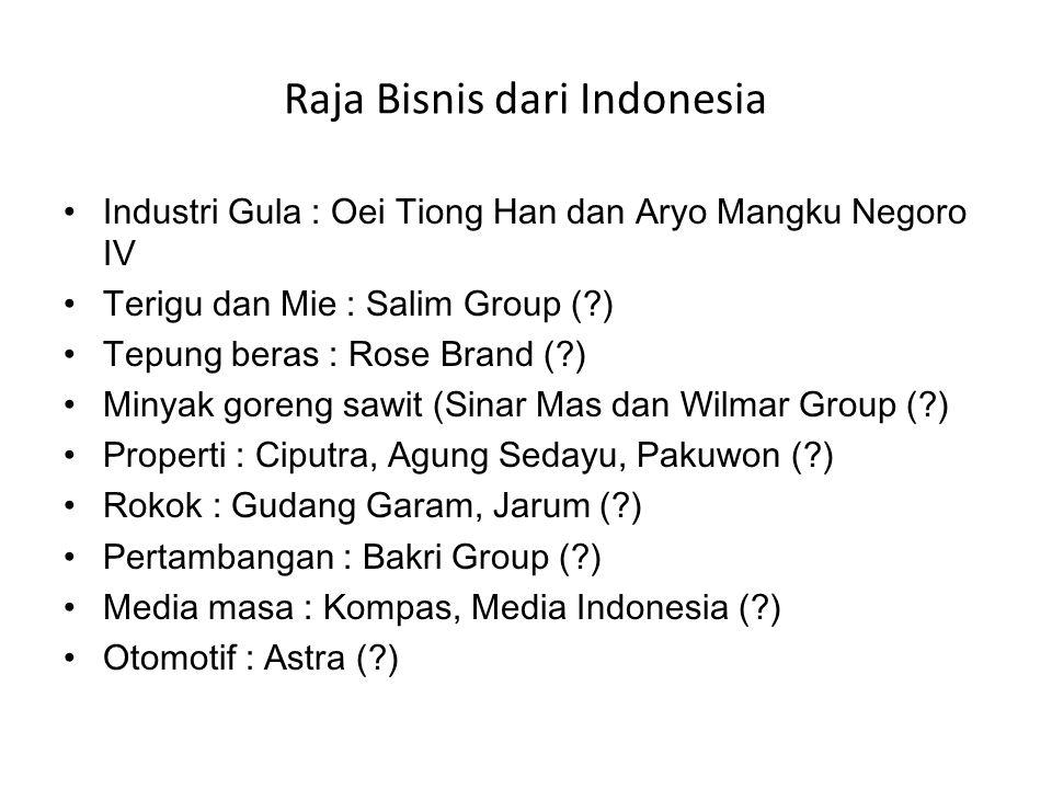 Raja Bisnis dari Indonesia