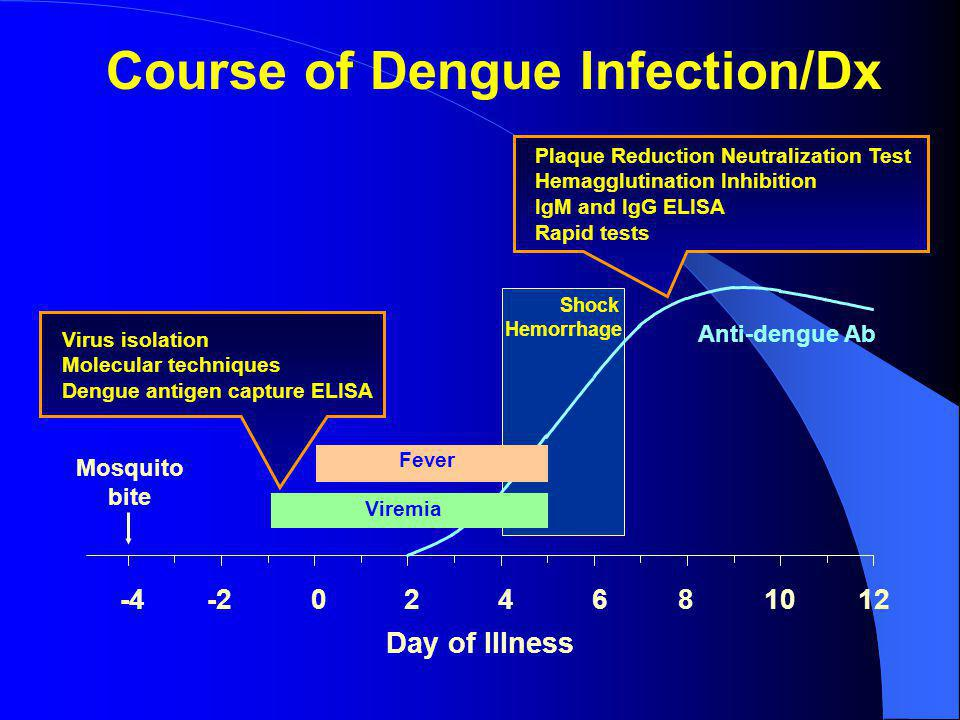 Course of Dengue Infection/Dx