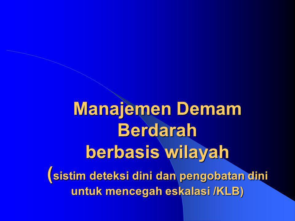 Manajemen Demam Berdarah berbasis wilayah (sistim deteksi dini dan pengobatan dini untuk mencegah eskalasi /KLB)