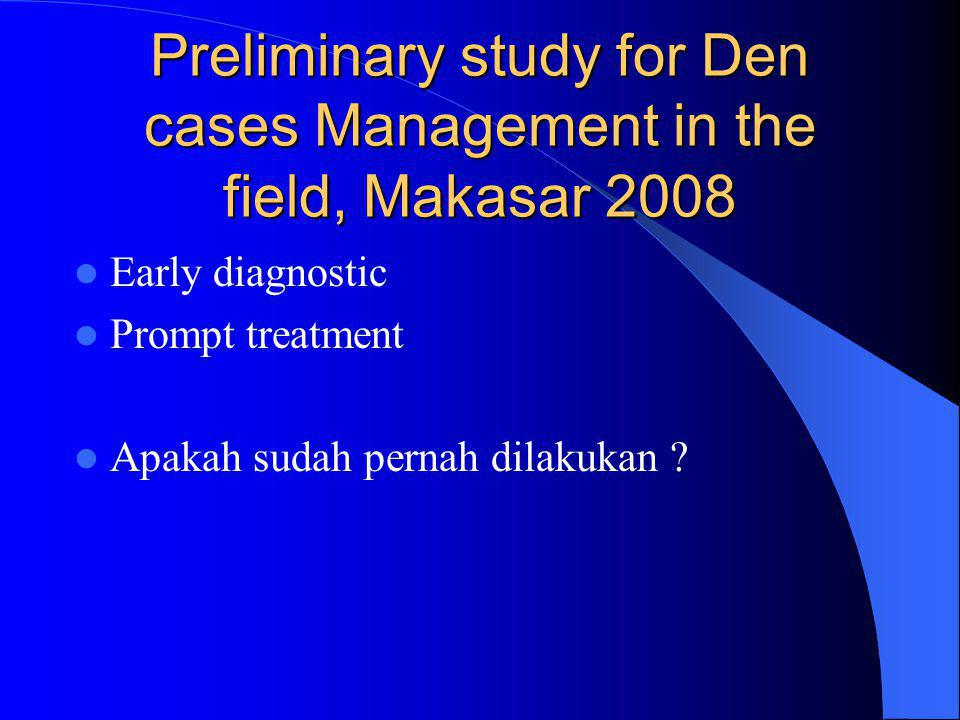 Preliminary study for Den cases Management in the field, Makasar 2008