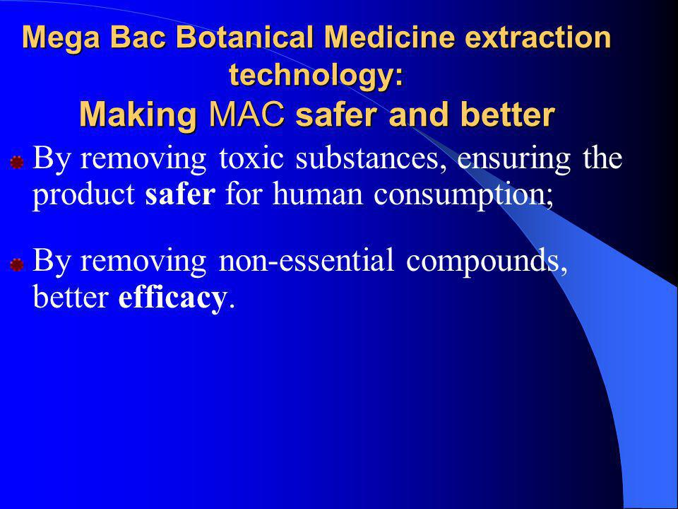 By removing non-essential compounds, better efficacy.
