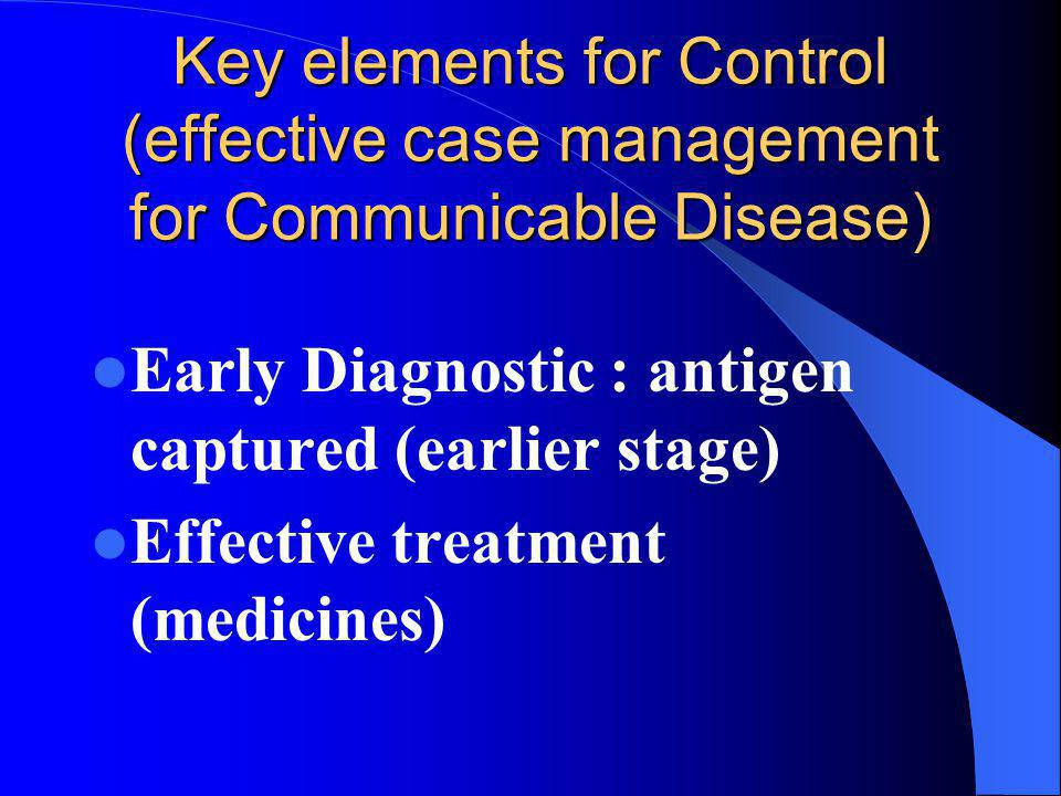 Key elements for Control (effective case management for Communicable Disease)