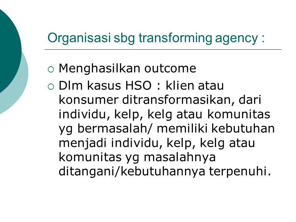 Organisasi sbg transforming agency :