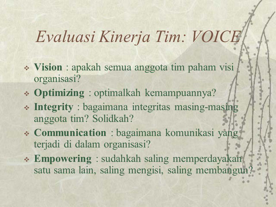 Evaluasi Kinerja Tim: VOICE