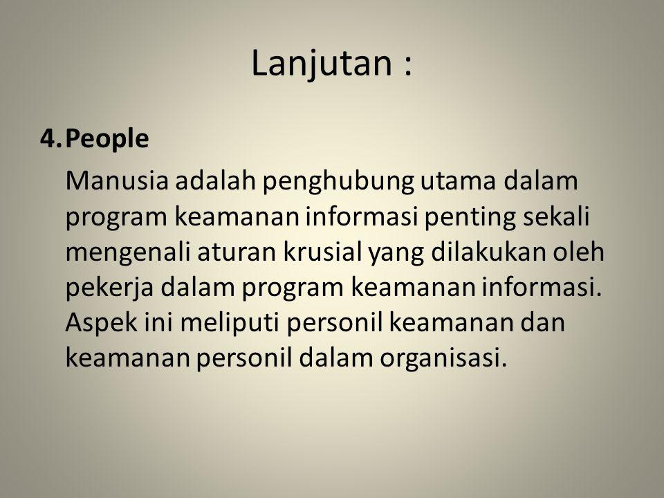 Lanjutan : 4. People.