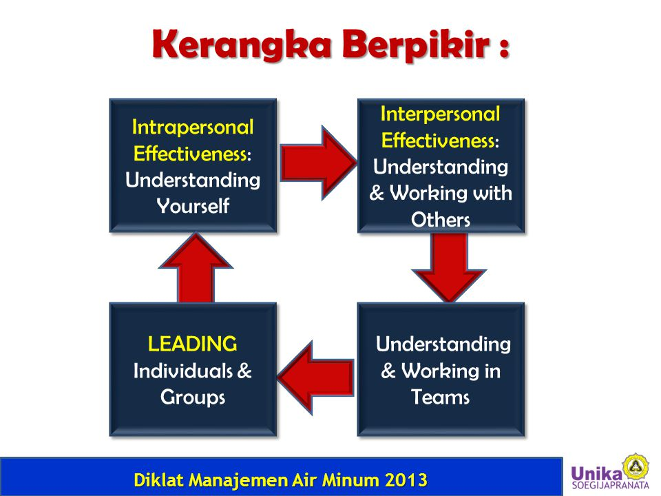 Kerangka Berpikir : Intrapersonal Effectiveness: Understanding Yourself. Interpersonal Effectiveness: Understanding & Working with Others.