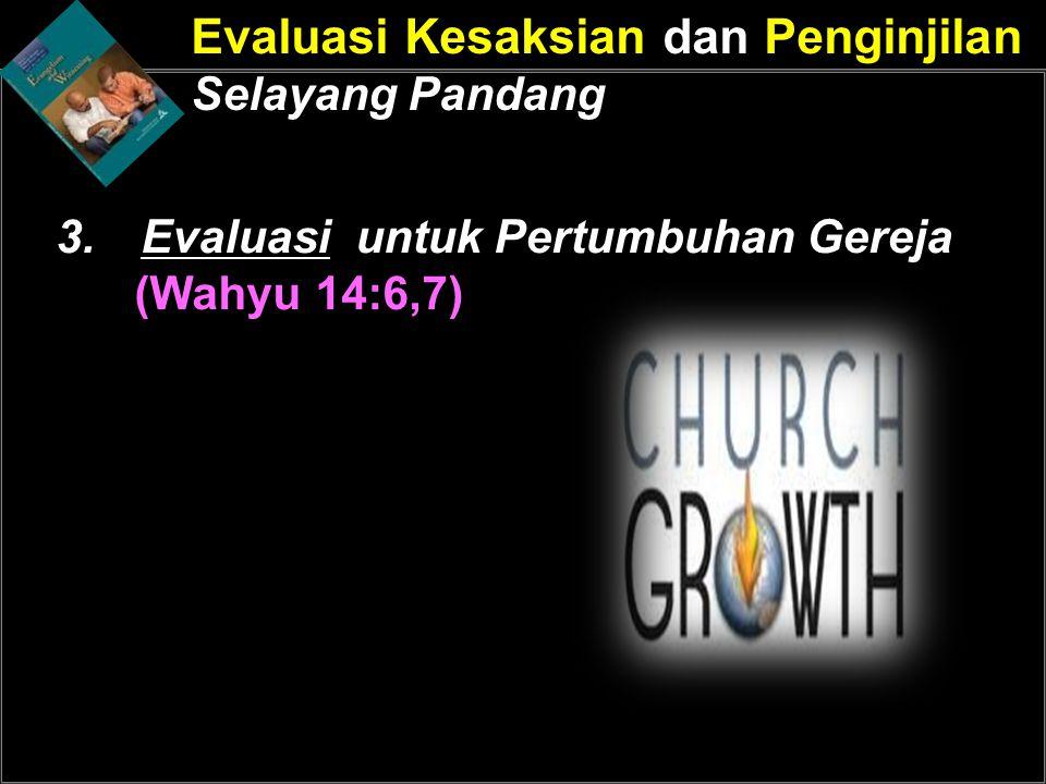 Evaluasi untuk Pertumbuhan Gereja (Wahyu 14:6,7)