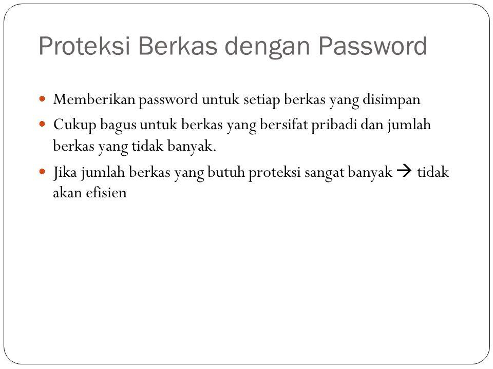 Proteksi Berkas dengan Password