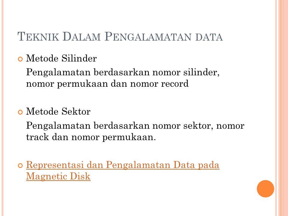 Teknik Dalam Pengalamatan data