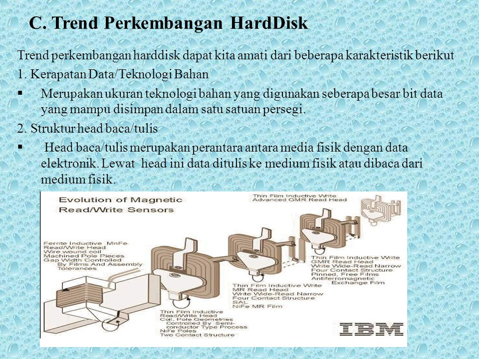 C. Trend Perkembangan HardDisk