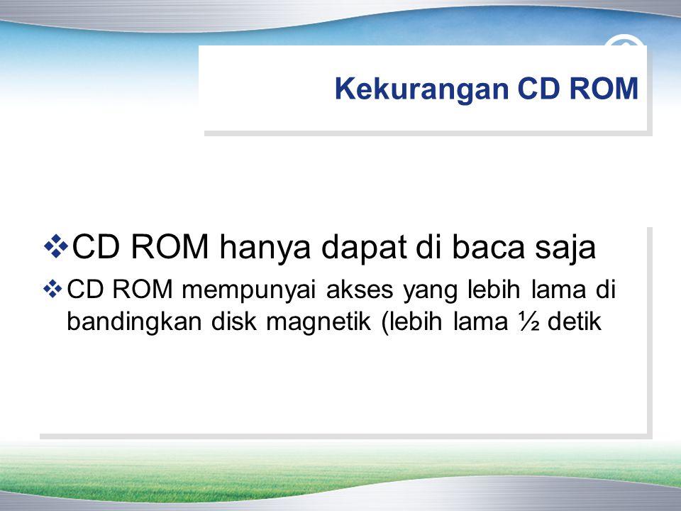 CD ROM hanya dapat di baca saja