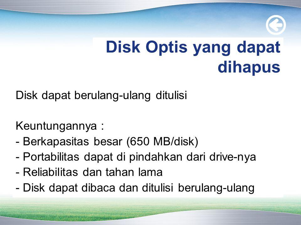 Disk Optis yang dapat dihapus