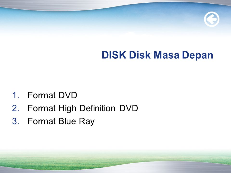 DISK Disk Masa Depan Format DVD Format High Definition DVD