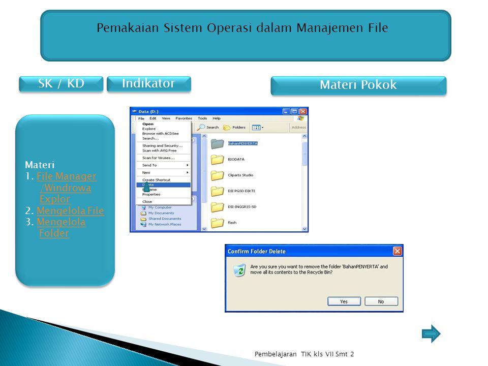 Pemakaian Sistem Operasi dalam Manajemen File
