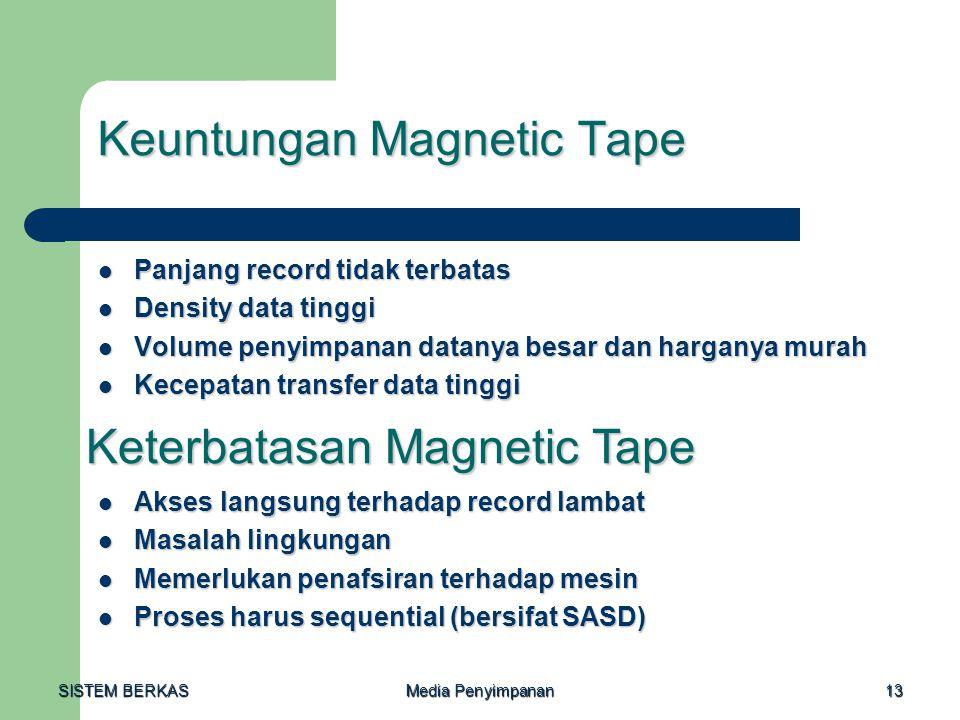 Keuntungan Magnetic Tape