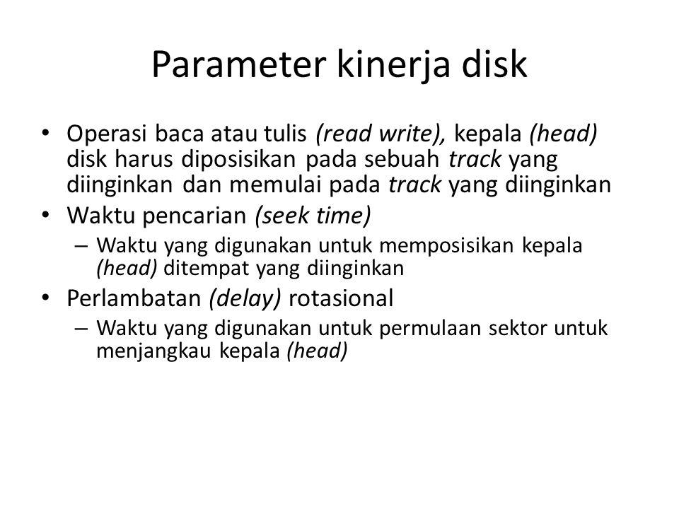 Parameter kinerja disk